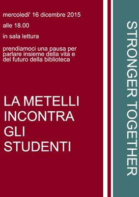la metelli incontra gli studenti poster